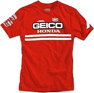 100% Geico Honda Contrail T-Shirt-Red-XL