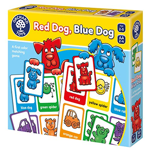 Orchard Toys Red Dog, Blue Dog - A Fun Matching Game with Two Ways to Play - Perfect for Home Learning, Multi