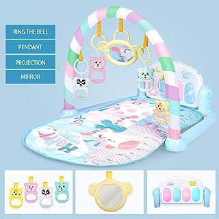 Forart Kick Play Newborn Toy with Piano for Newborn Baby Activity Cartoon Play Mat Gym Music Carpet Blankets