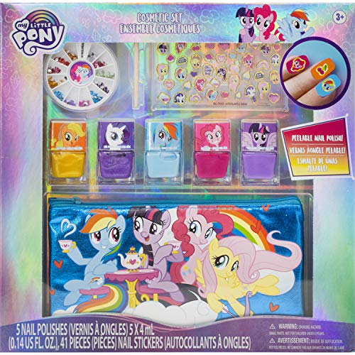 Townley Girl My Little Pony 5 PK Peel- Off Nail Polish and Activity Set for Girls, Ages 3+