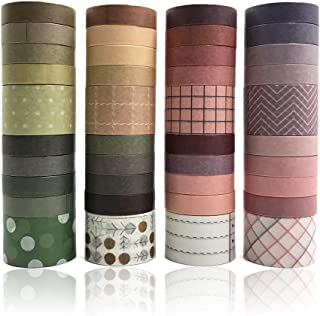 LELE LIFE Lot de 40 rouleaux de ruban adhésif Washi avec couleurs avancées, ruban décoratif pour scrapbooking, bullet jour...
