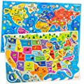 United States and World Map Puzzle for Kids Ages 4 5 6 7 8, Wooden USA Map and World Jigsaw Puzzles for Learning Capitals Countries Animals, Educational Preschool Wood Puzzles Toys for Kids Ages 3-5