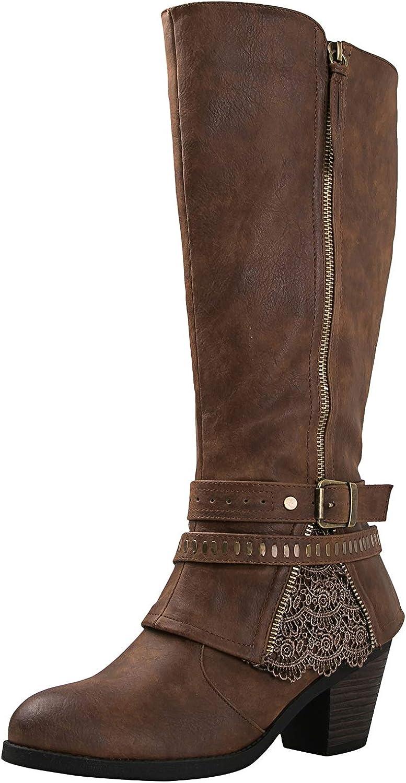 GLOBALWIN Women's 18YY32 Brown Fashion Boots 7M