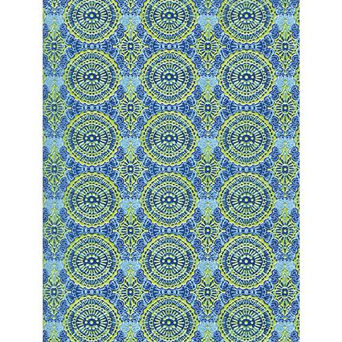 Décopatch papier, nr. 388 verpakking met 20 vellen (395 x 298 mm, ideaal voor uw papiermachés) groen, turquoise, mozaïek