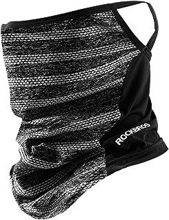 ROCKBROS(ロックブロス)フェイスカバー 防寒 ネックウォーマー 防風 息苦しくない 耳かけヒモ付き スノーボード ランニング 冬 アウトドア メンズ