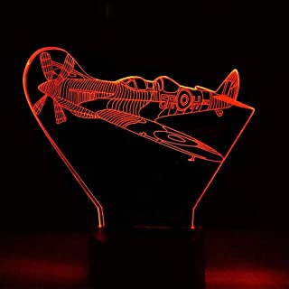 7 Color Changing Led Home Bedroom Bedside Fighter Gifts Nightlight 3D Aircraft Modelling Desk Lamp Cool Boy Sleep Lighting...