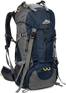 SKYSPER Sac à Dos de Randonnée 50L (45 + 5) en Nylon avec Housse de Protection Imperméable Ultraléger pour Alpinisme Escal...