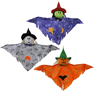 TOYANDONA 3Pcs Halloween Hanging Ghost, Scary Ornament Outdoor Indoor Bar Party Background Haunted House Decoration(Yellow...
