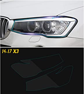 Car Styling Headlight Protective Restoration Protection Film Transparent Vinyl Stickers For BMW F30 F10 F25 X5 F15 X6 F16 G30 F25 F45 G11 G12 X3 G01 Accessories (for BMW X3 F25 2014-2017)