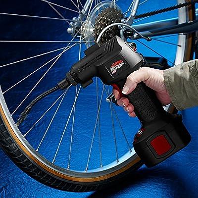 Black Includes LCD Display LED Light Handheld Electric Compressor High Street TV Air Hawk Pro Car Tyre Inflator Digital Pressure Gauge Pin Attachments /& Car Adapter