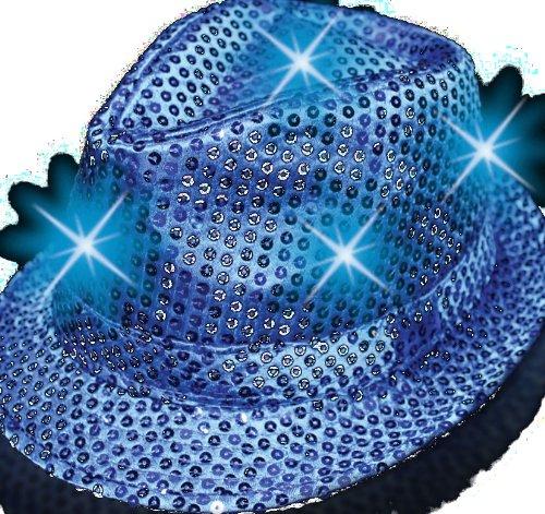 Supreme Party & Novelties LED Fedora, Blue