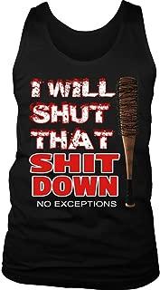 i Will Shut That Down Woman Tank Top Walking Dead ''Jeffrey Dean Morgan''