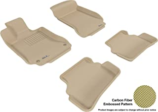 3D MAXpider Complete Set Custom Fit All-Weather Floor Mat for Select Mercedes-Benz C-Class Models - Kagu Rubber (Tan)
