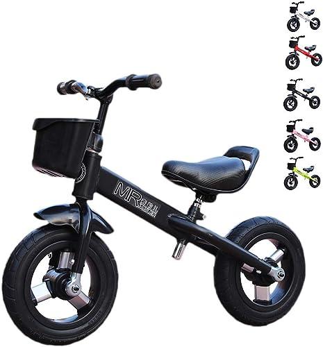 Draisiennes   Bike for Enfants -   Ride Scooter 10  Vélo pour Enfants Riding Toy   Walker Activités de Plein air intérieur 2-4 Ans ( Couleur   noir )