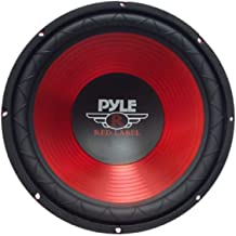 Car Vehicle Subwoofer Audio Speaker – 10 Inch Red Electro-Plated Cone, Red Steel..