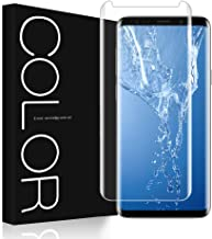 G-Color Screen Protector for Samsung Galaxy S9,[Updated Version] [3D Glass][Full Adhesive][High Response][Case Friendly] Tempered Glass Screen Protector for Samsung Galaxy S9