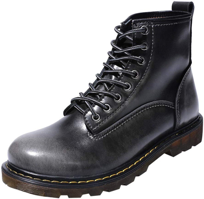 YCGG Männer England Vintage Stiefel Hochwertigem Leder Wasserdichte Winter Stiefeletten Arbeiten Outdoor Stiefel Motorrad Werkzeug Militärstiefel  | 2019