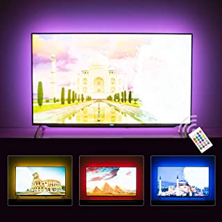 Hamlite LED Strip Lights for TV 65 Inch TV Backlight 65 Inch Bias Lighting TV Light Strip Mood Ambient Lighting, 15ft Customized Length to Cover 4/4 Sides of 60-65