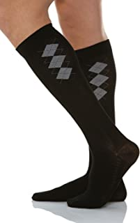 RelaxSan 820B - 15-20 mmHg unisex cotton compression socks with massaging insole, 100% Made in Italy