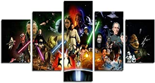 Leyrus 5 Piece Stormtrooper Star Wars Movie Canvas Painting for Living Room Home Decor Canvas Art Wall Poster (No Frame) Unframed YSH046 50 inch x30 inch