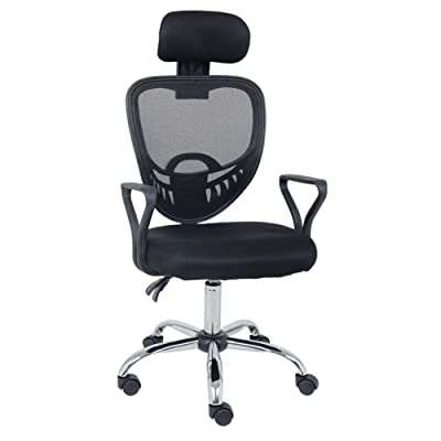 Adjustable Office Chair Swivel Desk Chair Lumba...