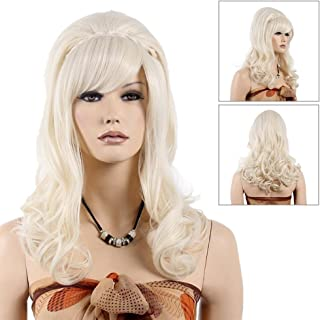 long curly costume wig