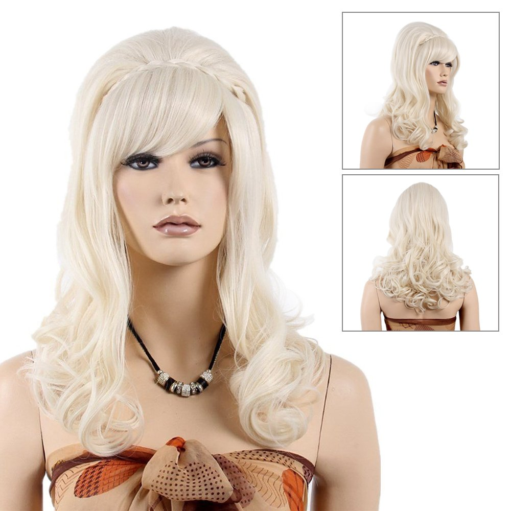 STfantasy 80s Super special price Married Housewife Wig Long Women Max 61% OFF Curly for Lolita