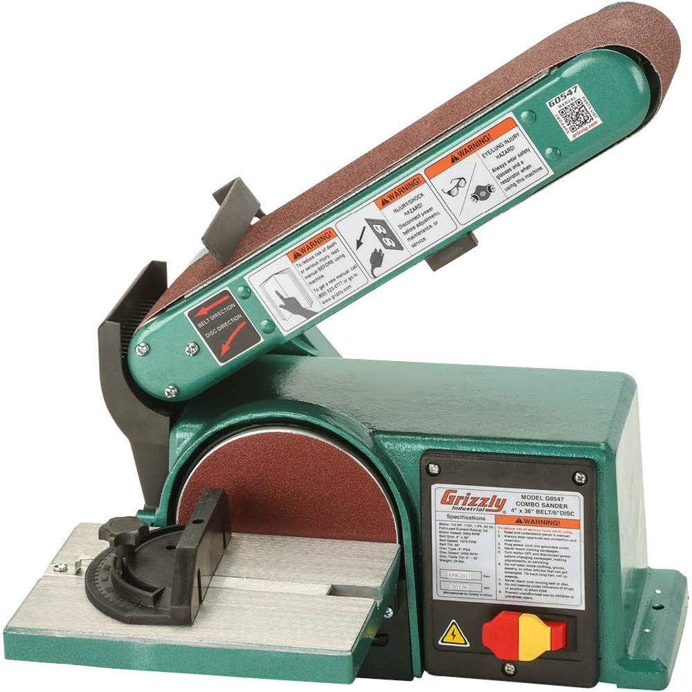 Grizzly G0547 Sander 6 Inch 36 Inch