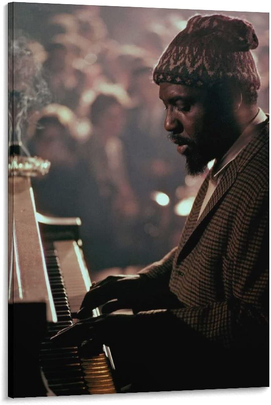 FANWEI Pianist Thelonious Monk Canvas Painting Decorative Poster Sale High quality