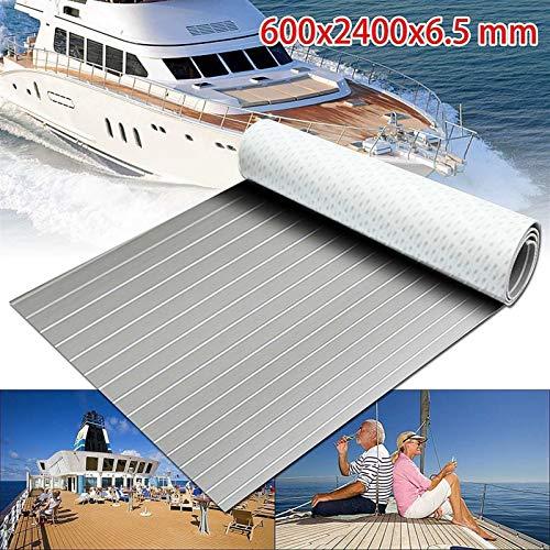 Self-Adhesive 600x2400x6.5mm Foam Teak Decking EVA Foam Marine Flooring Faux Boat Decking Sheet Accessories Marine Grey White