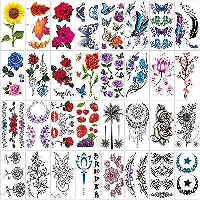 42 Sheets Temporary Tattoos