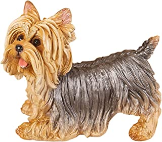 Danmu 1Pc of Polyresin Yorkshire Terrier Dog Statue Garden Statues, Outdoor Statues, Garden Ornaments, Yard Statue for Hom...