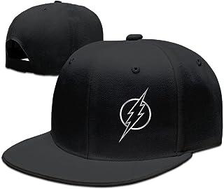 PAIOWCR The Flash Platinum Style Baseball Snapback Hat Black
