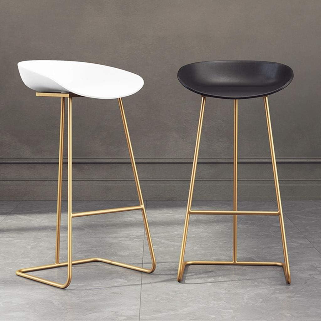 Tabourets Coussin en Cuir de Haut en métal de Chaise de thé en métal de siège Avant de de Bar Simple d'or/Style Industriel (Color : B) B