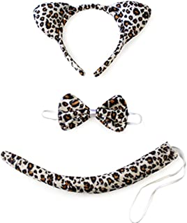 Halloween Headband Kids Animals Costume Dalmatian Mouse Wolf Tiger Cat Ears and Tail