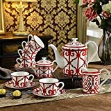 Reusable Coffee Cup Coffee Sets Bone China High-End European Tea Sets Creative Afternoon Tea Sets Teapot And Cups Set Home Decorations-Set Of Fifteen