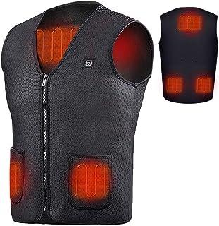 Cihely Heating Vests Heated Vest USB Women Men 5V Washable, Lightweight Warm Gilet Coat for Winter Skiing Hiking Fishing Golf