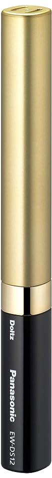 拒否フィヨルドロボットパナソニック 音波振動ハブラシ ポケットドルツ 限定色 ブラック&ゴールド EW-DS12-KN