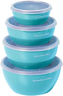 KitchenAid KC176BXAQA Classic Prep Bowls, Set of 4, Aqua Sky