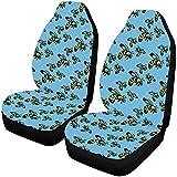 Fundas de asiento de automóvil de abeja de dibujos animados personalizados finos, el protector del asiento del vehículo se adapta a la mayoría de los automóviles, camiones, SUV, furgonetas