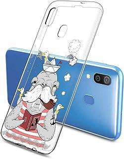 Oihxse Mode Case Compatible pour Samsung Galaxy J7 Max Coque Transparent Silicone Gel TPU Bumper Animal Motif Dessin Cover...