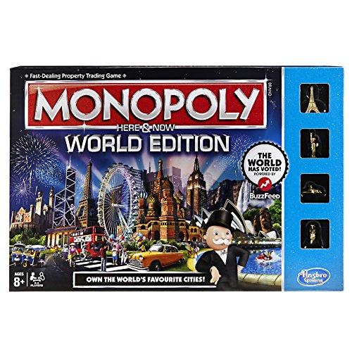 Hasbro B2348102 – Monopoly Here & Now – World Edition – Brettspiel (Englische Sprache) [UK Import]