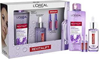 L'Oréal Paris Pack Revitalift Filler, Incl. Sérum Antiarrugas con Ácido Hialurónico Puro, 30 ml, Tónico Rellenador Anti ed...