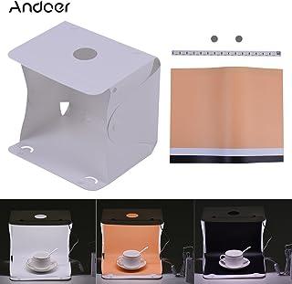 Mini، Andoer Q1A 25 * 20. 7 سم/9. 8 * 8. 1 بوصة قابلة للطي 15 LED USB مصغر Softbox مكعب خفيف مدمج مع خلفية 3 ألوان لكاميرا...