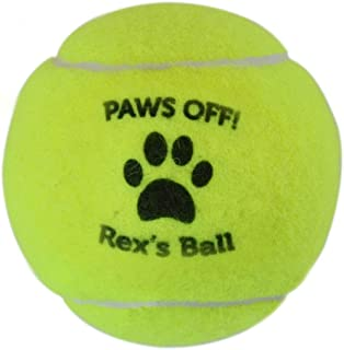 ChalkTalkSPORTS Personalized Printed Tennis Ball | Paws Off Tennis Ball | Single or 3 Ball Can