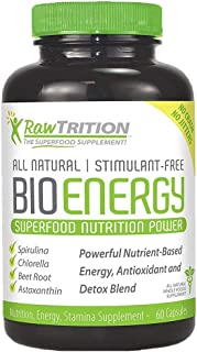 RawTrition BioEnergy Superfood Nutrition Power – Antioxidant, Sugar & Gluten Free – Natural Nutrition, Energy & Stamina Su...