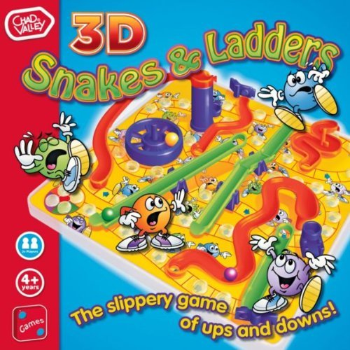 Chad Valley 3D Snakes and Ladders Board Game