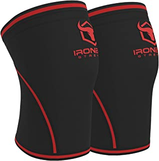 Iron Bull Strength Knee Sleeves 7mm (1 Pair) - High Performance Knee Sleeve Support for Weight Lifting, Cross Training & Powerlifting - Best Knee Wraps & Straps Compression - for Men and Women