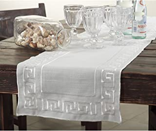 Occasion Gallery Ivory Classic Greek Key Design Table Runner 16