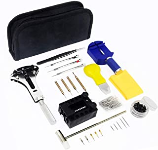 Watch Repair Kit, LONGMATE 145 Pcs Professional Watch Repair Tools, Watch Case Opener Spring Bar Tools Watch Link Remover with Carry Case